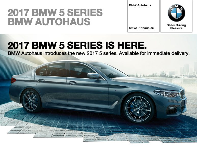 the new 2017 bmw 5 series bmw autohaus. Black Bedroom Furniture Sets. Home Design Ideas