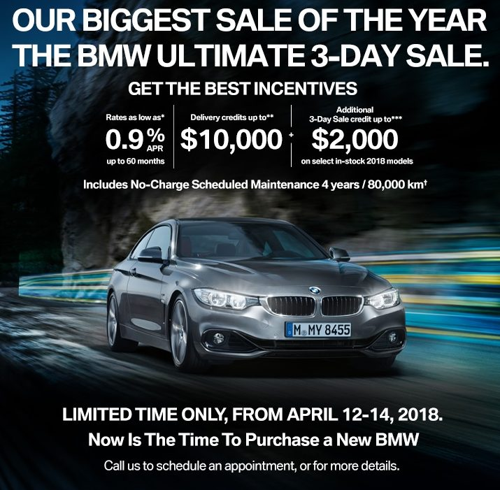 The BMW Ultimate 3-Day Sales Event