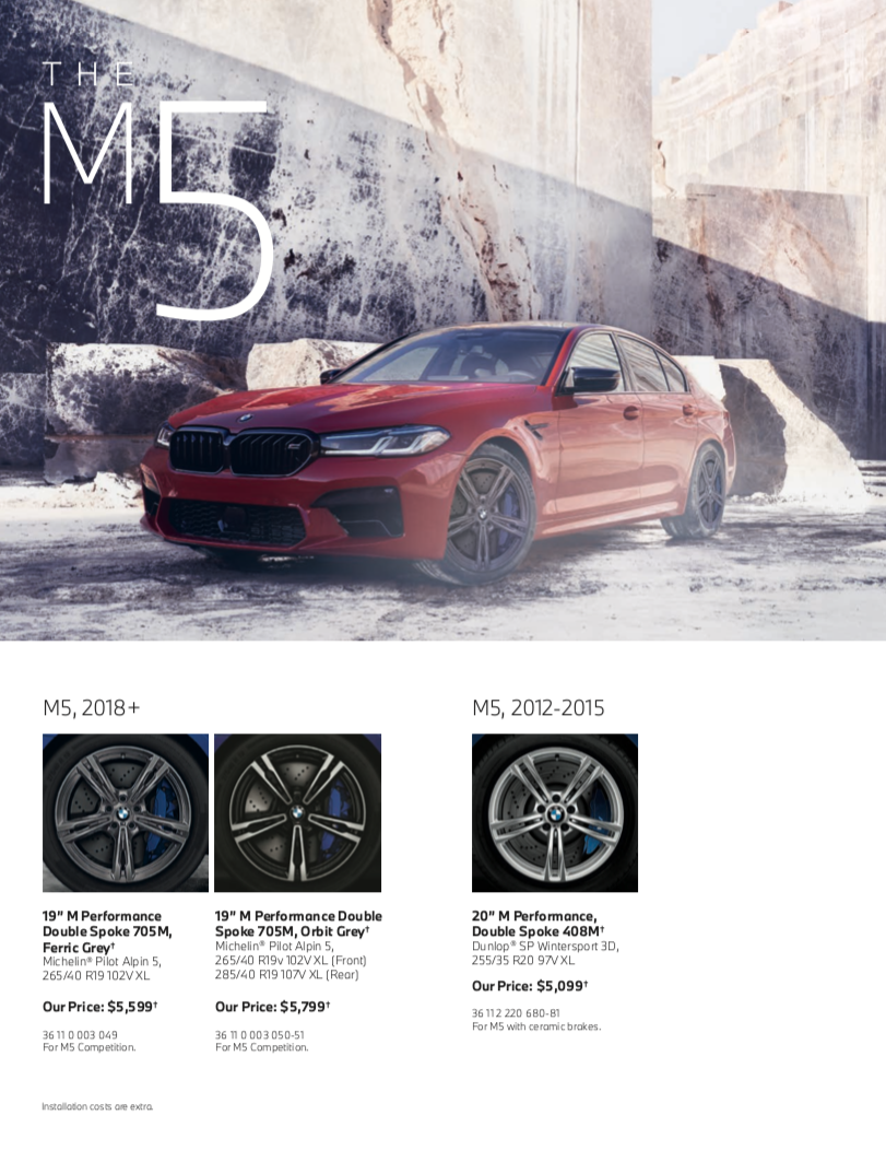 The M5 Tires