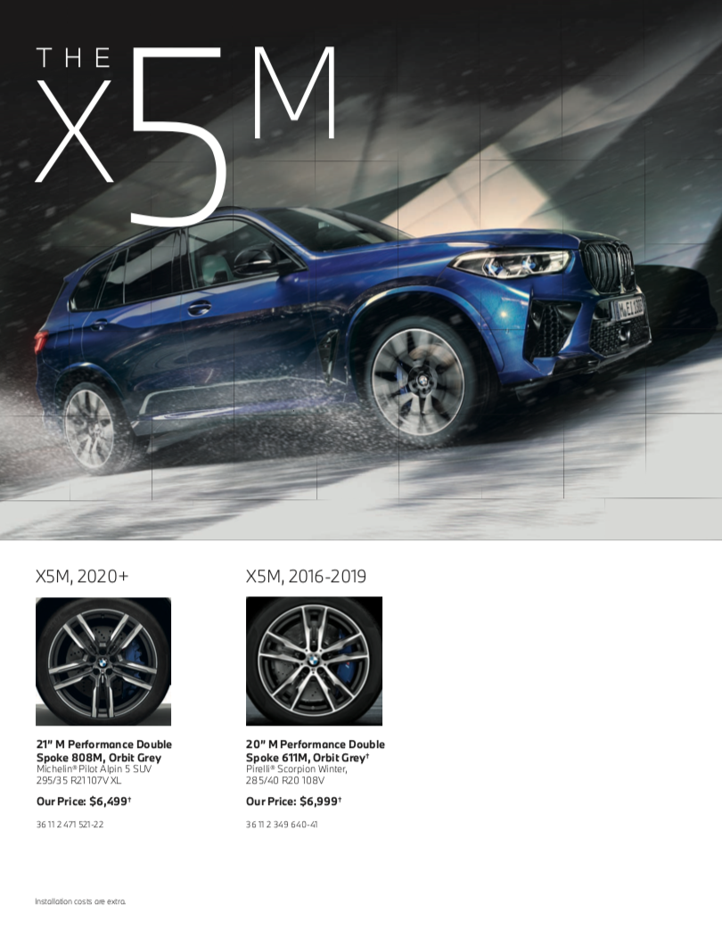 The X5M Series