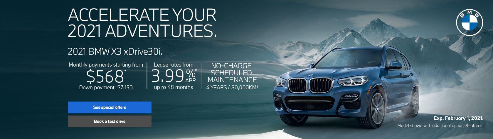 BMW X3 offers